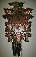 Hubert Herr Painted Flowers Traditional Cuckoo Clock