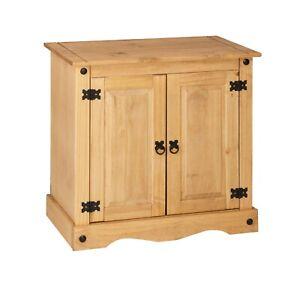 Corona 2 Door Small Sideboard Cupboard - Mexican Pine