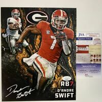 Autographed/Signed D'ANDRE SWIFT Georgia Bulldogs 8x10 College Photo JSA COA #3