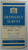 1961 Old Vintage OS Ordnance Survey 1:25000 First Series Provis Map TQ 92 Rye