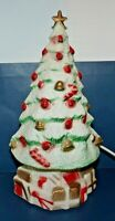 "Vintage Carolina Enterprise Lighted 13"" Decorated Christmas Tree Blow Mold"