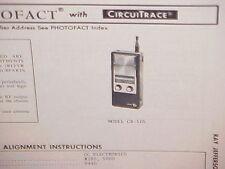 1975 RAY JEFFERSON CB RADIO SERVICE SHOP MANUAL MODEL CB-505