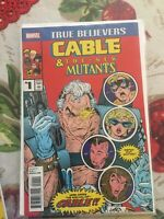 Cable And The New Mutants #1 Reprint. True Believers. NM Marvel Comic. Movie