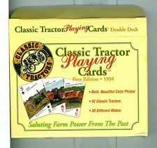 "Two Sealed Decks Playing Cards ""Classic Tractor"", Soy Inc. USA 1994 Non-Standard"