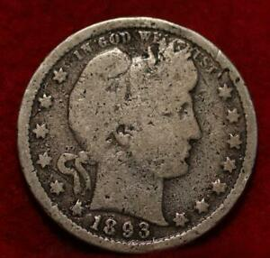 1893 Philadelphia Mint Silver Barber Quarter