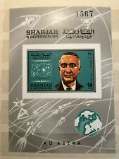 SHARJAH, SPACE, AMERICAN ASTRONAUT V. GRISSOM, MNH, VF IMPERF SS