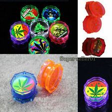 1PCS Acrylic Plastic Pollinator Tobacco Grinder Smoke 2 Part Crusher Grinders