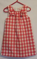 COUNTRY ROAD ~ Girls Pinky Red White Gingham Check Sleeveless Shift Dress 18-24m