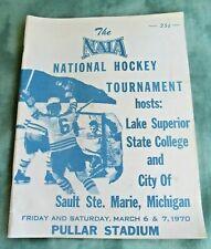 1970 National Hockey Tournament Program