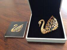 Swarovski Colorful Crystal Brooch The Centenary Swan