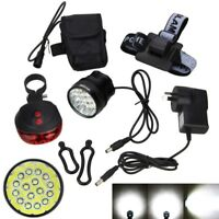 60000LM 16x XML T6 LED Cycling Bicycle Bike Light Lamp+Battery+Charger+Taillight