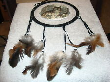DREAMCATCHER WITH A PICTURE OF WOLVES WOLF (F)