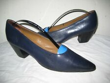 WALTER STEIGER Leather Pumps Blue Shoes Women's Size 7.5 B Hand  Made In ITALY.