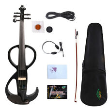 Yinfente 5string Electric violin 4/4 Wooden Body Free Case Bow #EV11