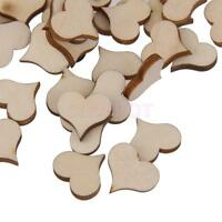 Blank UNFINISHED Wooden Hearts Shape Embellishments for Craft Card Making Supply
