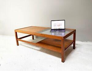 Enormous teak 1970's mid century coffee table (1.4M wide)