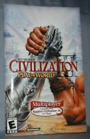 User Manual Booklet Sid Meier's Civilization III Play the World Expansion PC