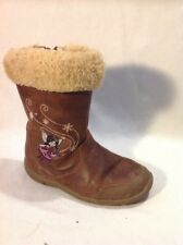Girls Clarks Brown Leather Boots Size 8.5F