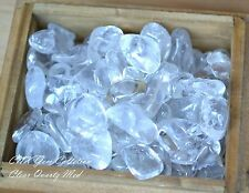 Tumbled Gemstone Crystal Natural Clear Quartz Chip Stone Medium 5g