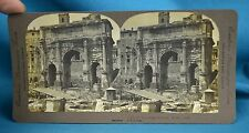 c1900 Italian Stereoview Photo Arch Of Septimus Severus Rome Italy Excelsior