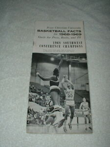 1968-1969 Texas Christian TCU Horned Frogs Basketball Media Guide