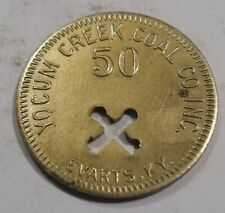 Evarts, Kentucky Token.  Yocum Creek Coal Co.  50¢ in Mdse.  Harlan County, KY