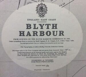 ADMIRALTY SEA CHART. BLYTH HARBOUR. No.1626. ENGLAND EAST COAST. 1954
