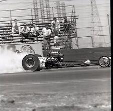 Front Engine Dragster @ Lions Race Track - Vintage Drag Racing Negative