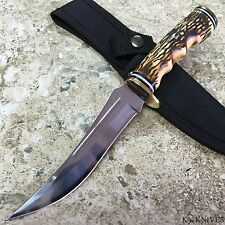 """9.5"""" STAG UPSWEPT SKINNER HUNTING KNIFE sharp skinning survival 210914"""