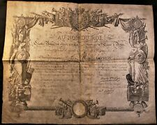 KING CHARLES X AUTOGRAPH ON DECORATION ACT SIGNED ON JUNE 21, 1816