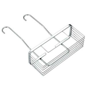 Stainless Steel Home Bath Shower Caddy Bathroom Free Hanging Storage Rack Shelf