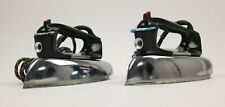 Vintage GE General Electric 36F60 HiOF63 Spray Steam & Dry clothes Iron Lot Of 2