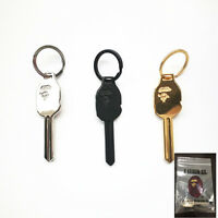 A Bathing Ape Bape Metal Keychain Key Holder Keyring Gold Silver Black 3 Color