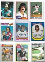 Dennis Eckersley Lot of (9) Different w/ 1976 Topps Rookie #98 1977 1979 BV$65