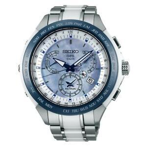 Seiko SSE039 Astron GPS Solar Men's Chronograph Two-Tone Titanium Ceramic Watch
