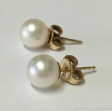 Estate Jewelry 7mm Round Pearl Stud Earrings 14K Yellow Gold