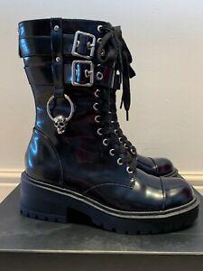 KillStar Bones Combat Boots NEW in box Size UK 6 / US 8 / EU 39 *RARE*