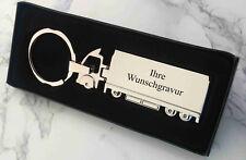 TRUCK LKW Metall-Schlüsselanhänger - mit Ihrer WUNSCHGRAVUR