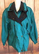 Edelweiss Vintage Ski  Snow Wear Teal Green Women's Medium Jacket