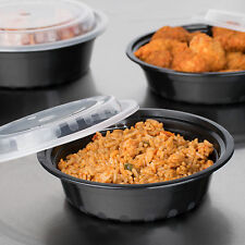 16 ounce oz BPA free Microwave Take Out Containers To Go plastic 75 sets