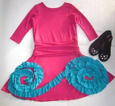 $95 NEW PIXIE GIRL Chasing Fireflies Pink / Blue Ruffled TWIRLY Party Dress 12