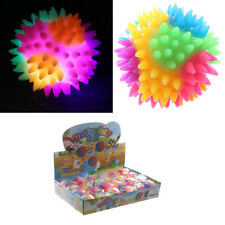 Set Of 3 Spiky Rubber Hedgehog Glow Bouncing Ball Flashing With LED Light 5.5cm