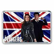 JOHN STEED & EMMA PEEL 'THE AVENGERS' UNION JACK - JUMBO FRIDGE / LOCKER MAGNET