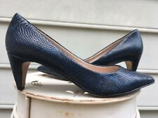 FRENCH CONNECTION Women's Korina Black/blue Leather Dress Pumps Sz 6