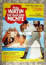 FRAU WIRTIN hat auch eine NICHTE * A1-FILMPOSTER - German 1-Sheet´69 KULT EROTIK