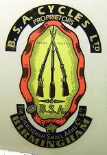 BSA MOTORCYCLES, OIF, Made in England, Original BSA Small Arms, 3  GUN Decal
