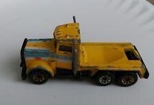 Vintage 1981 Peterbilt Matchbox Yellow Toy Car truck Pace Work construction rare