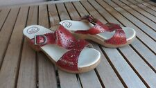 Dansko, Red Cut Out Leather Sandal, size 41