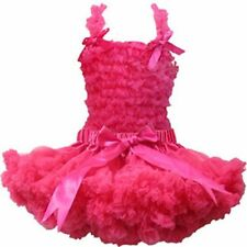 NWT Girl s size 6 TUTU Tulle Pink FRILLY Elastic Waist Skirt   RUFFLE Top  OUTFIT 14786b551