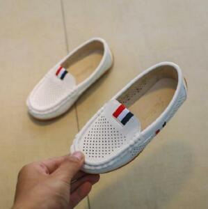 Kids Comfy Shoes Boys Children's Casual Hollow Breathable Sneakers Slip-on Shoes
